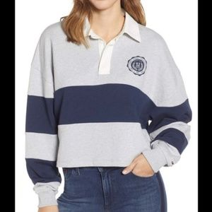 NWT Tommy Jeans Rugby Cropped Sweatshirt L
